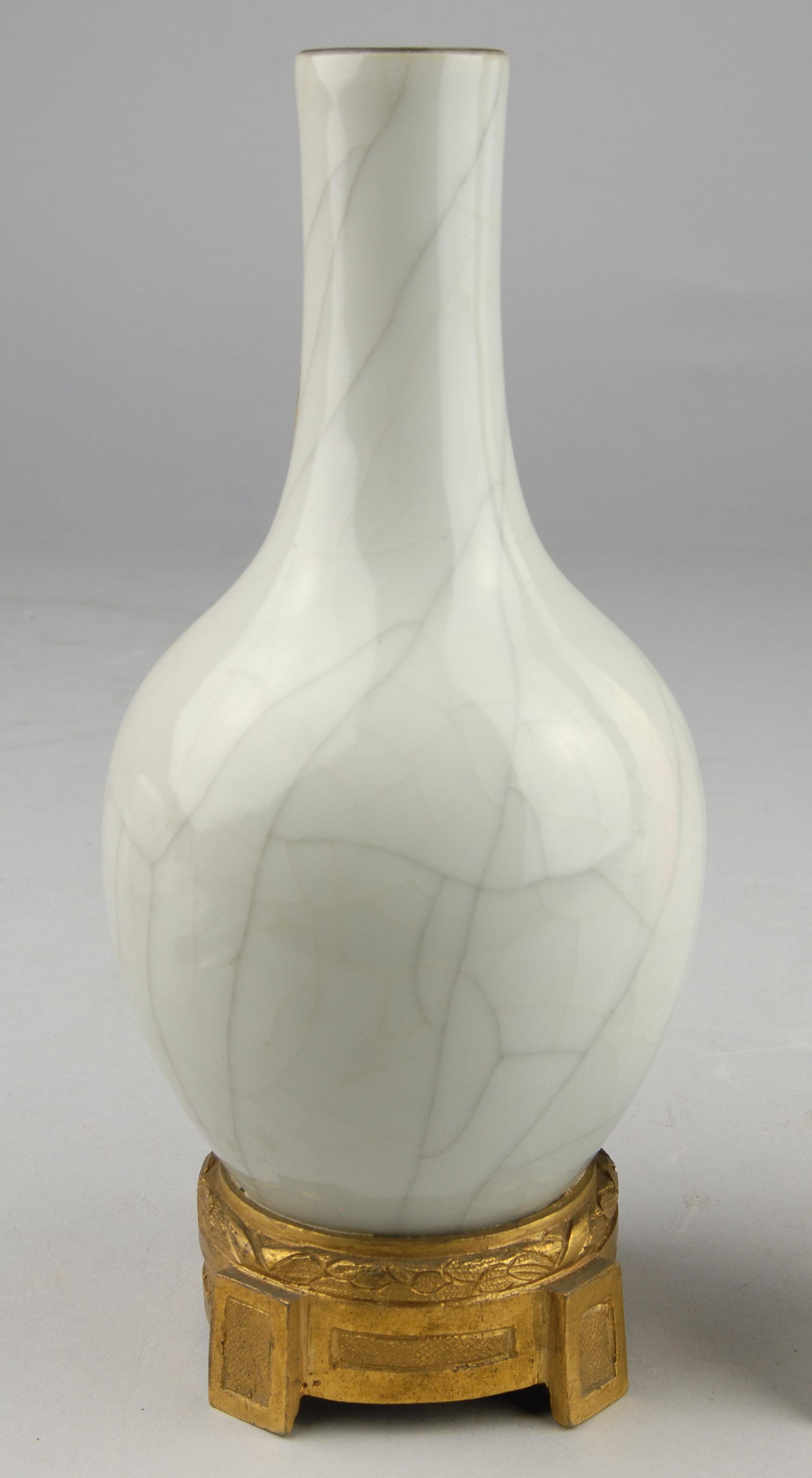 Vase mit europäischer Montierung