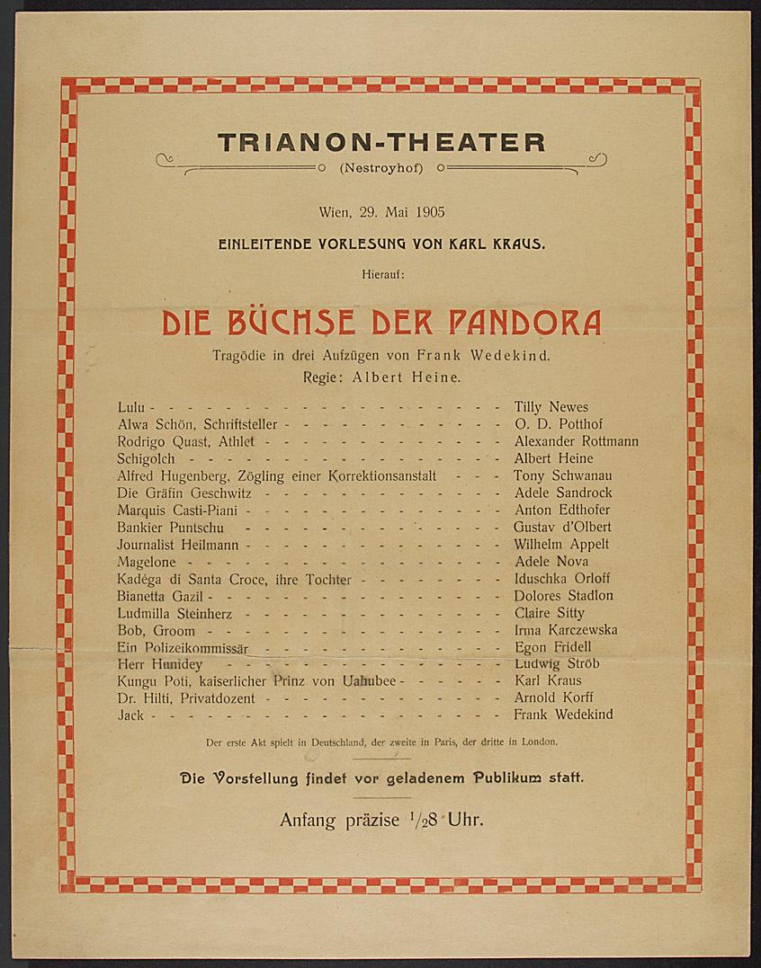 Die Büchse der Pandora von Frank Wedekind