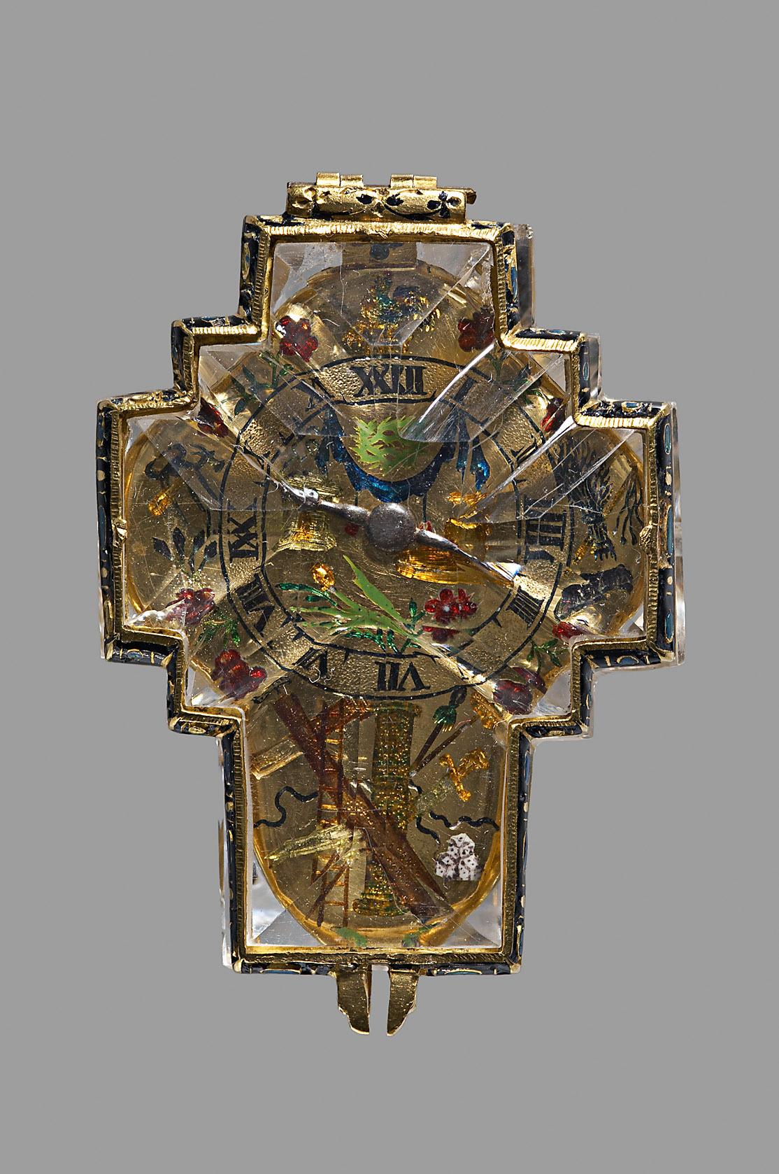 Kreuzförmige Halsuhr von Konrad Kreizer
