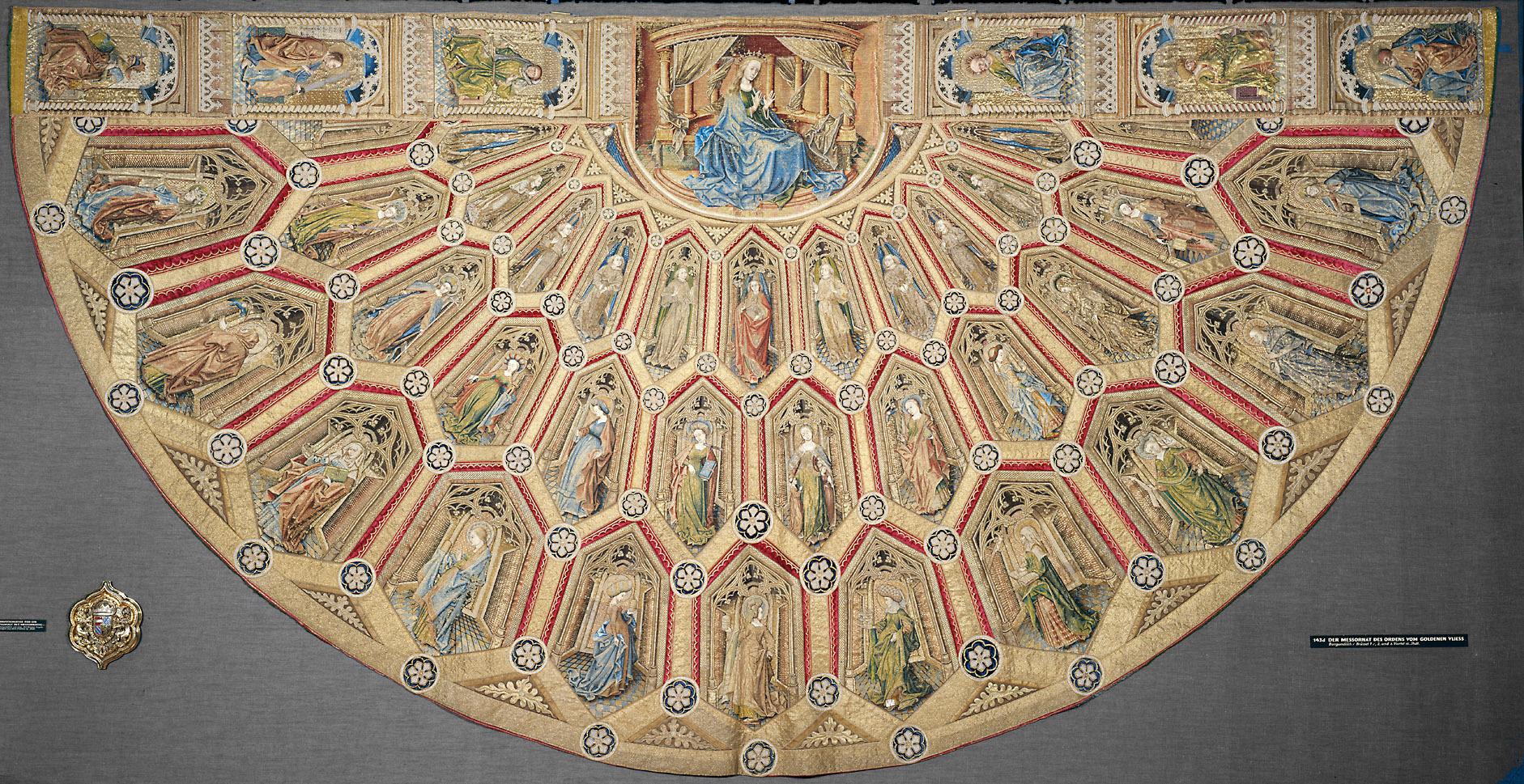 Marienmantel des Meßornats des Ordens vom Goldenen Vlies (Pluviale)