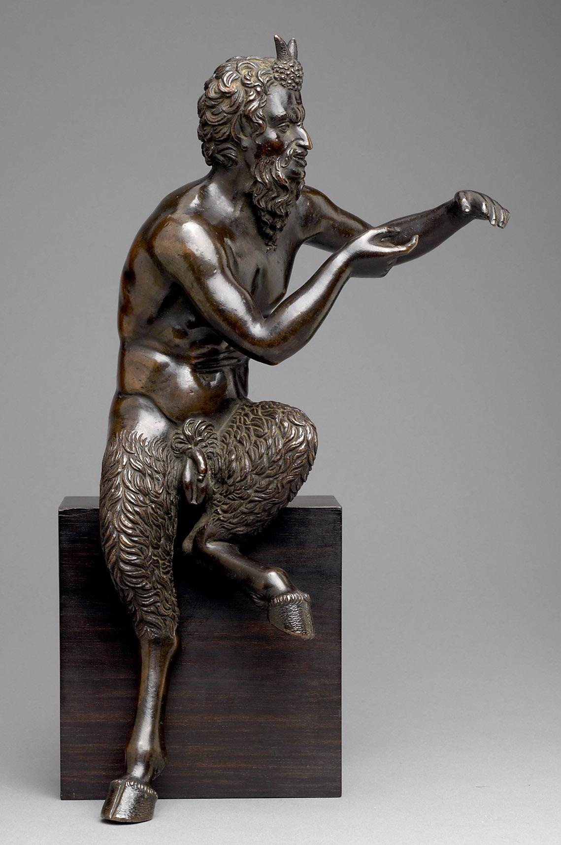 """Sitzender Pan; Fragment aus der Gruppe """"Pan und Daphnis"""" von Pier Jacopo Alari de Bonacolsi, gen. Antico"""