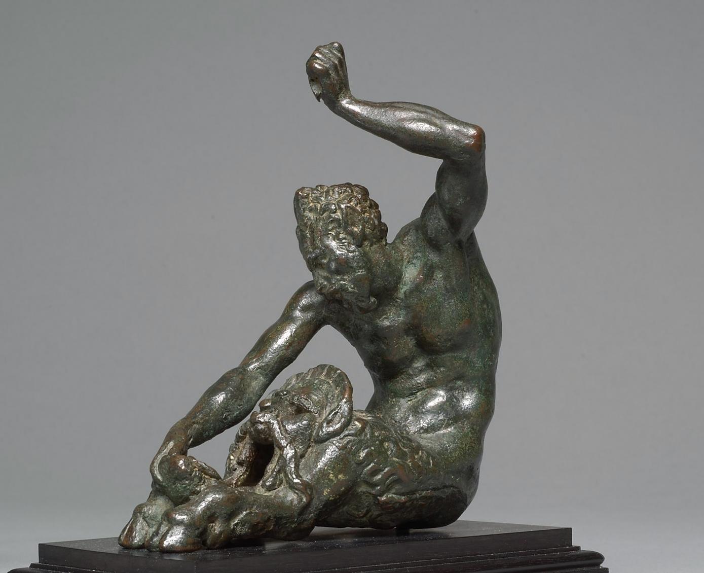 Öllampe (?)  in Gestalt eines sitzenden Satyrs mit Maskeron von Niccolò di Raffaello de´ Pericoli gen. Tribolo