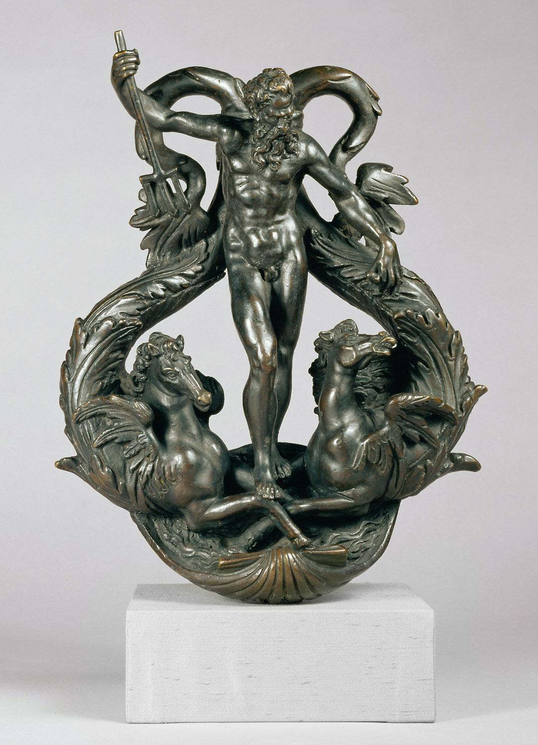 Türklopfer mit Neptun zwischen zwei Hippokampen von Alessandro Vittoria