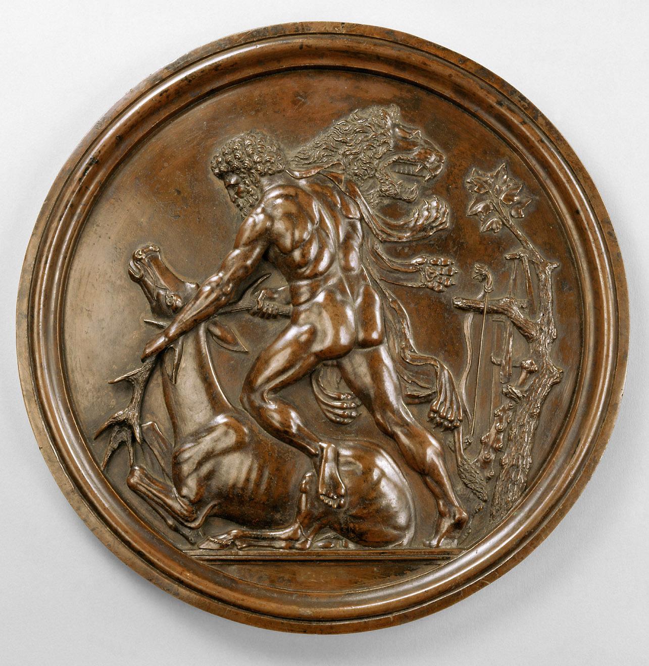 Herkules fängt die kerynitische Hirschkuh von Pier Jacopo Alari de Bonacolsi, gen. Antico