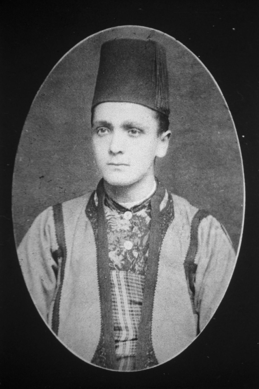 Portrait: Friedrich Julius Bieber um 1890/91 während Balkanreise