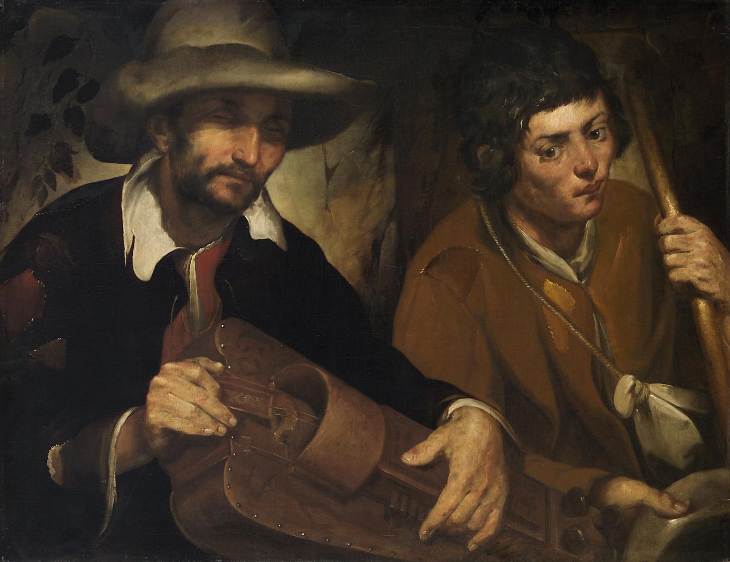 Blinder Drehleierspieler von Francisco de Herrera d. Ä.
