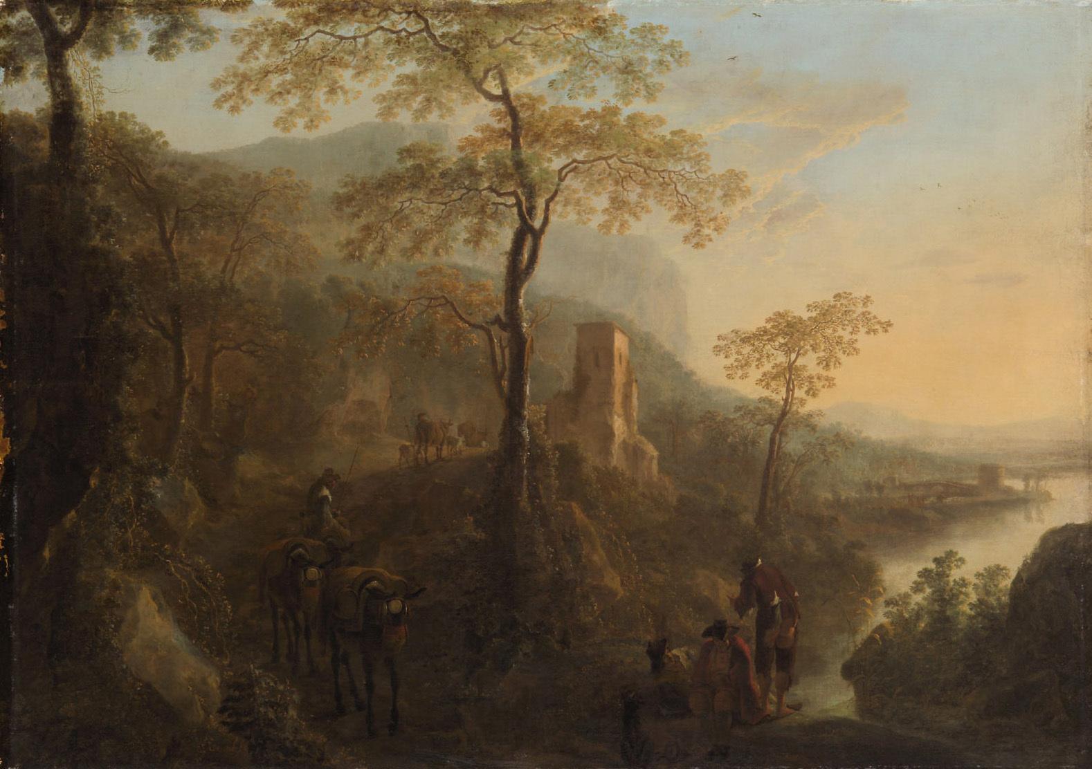 Italienische Landschaft von Wilhelm de Heusch