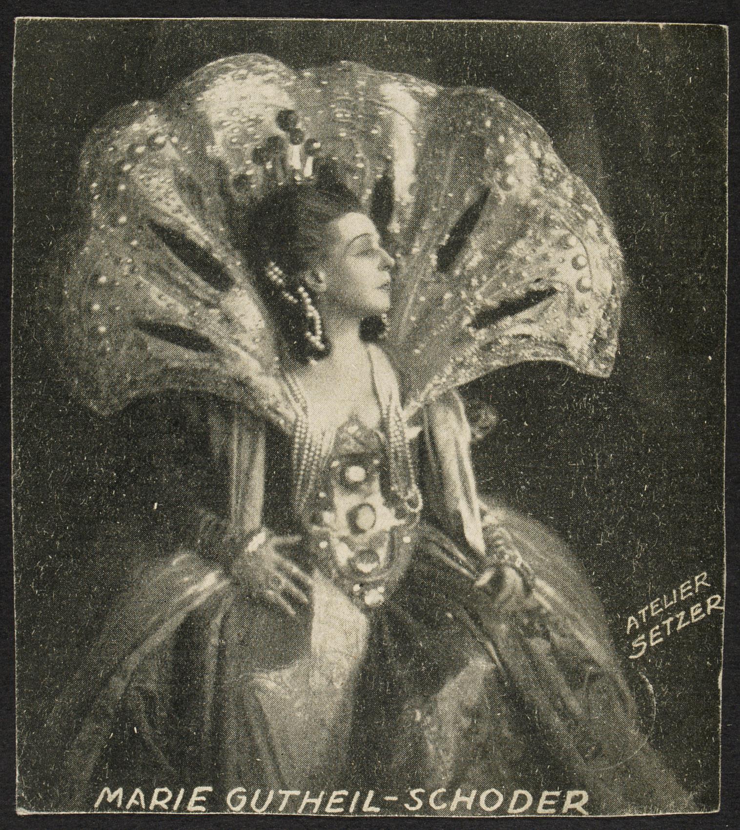 Marie Gutheil-Schoder von Atelier Setzer, Wien