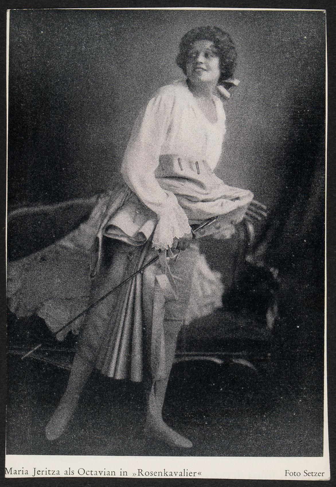Maria Jeritza von Atelier Setzer, Wien