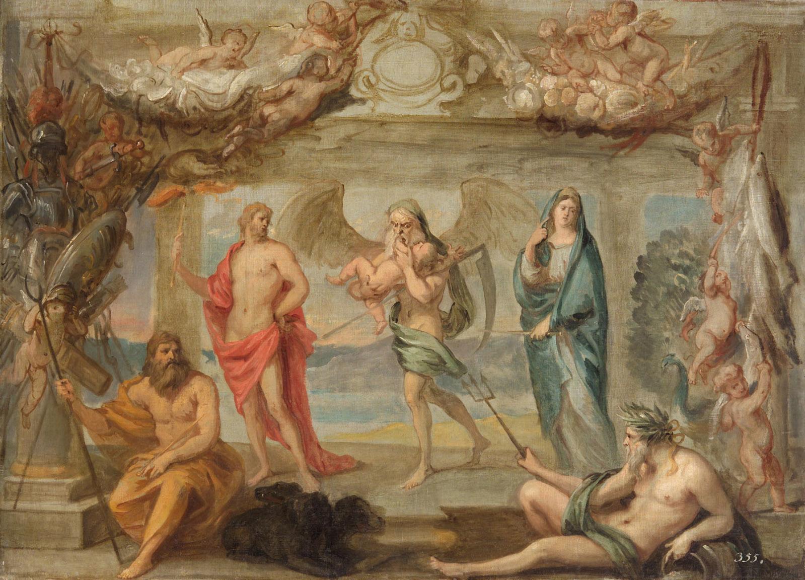 Die Elemente und die Zeit von Jan van den Hoecke