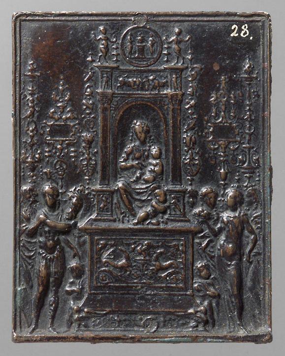 Thronende Madonna mit Heiligen