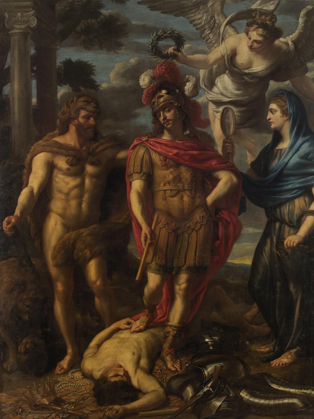 Überwindung des Geizes von Jan van den Hoecke