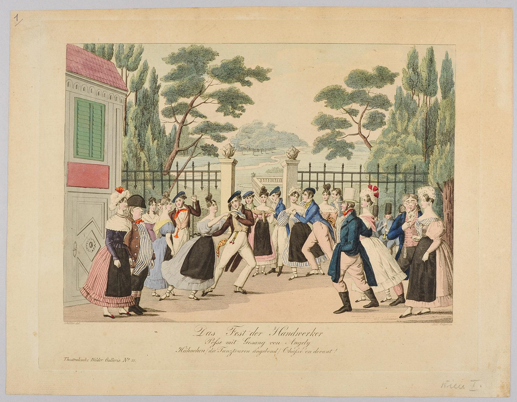 Das Fest der Handwerker von Johann Christian Schoeller