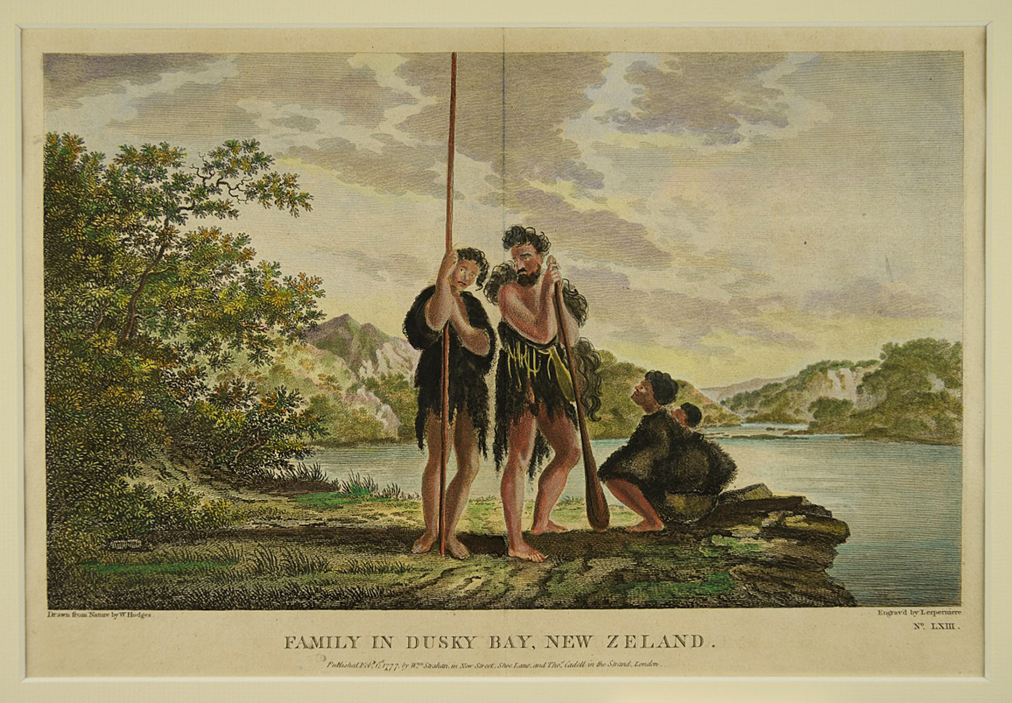 Family in Dusky Bay, New Zealand von William Hodges