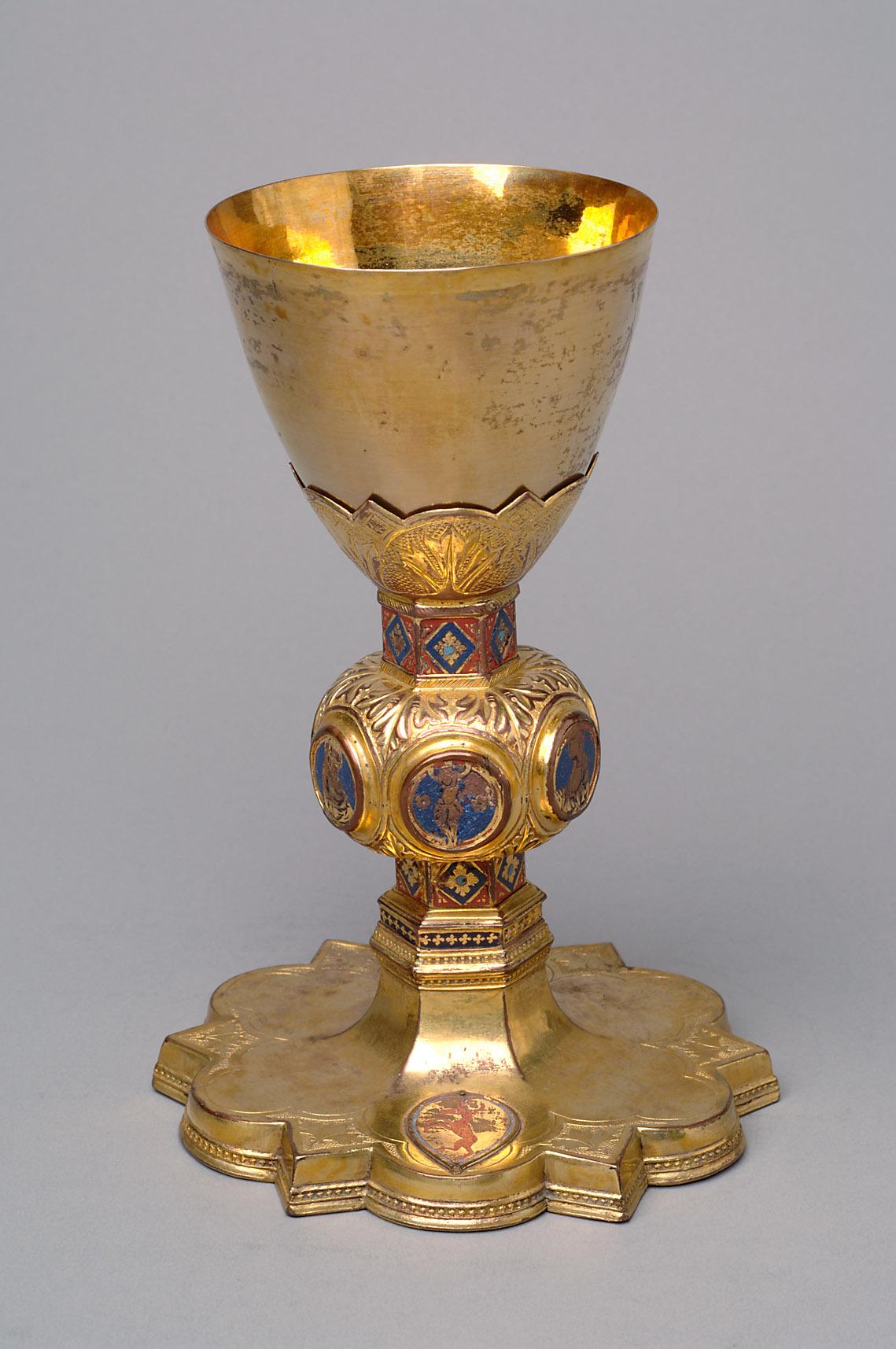 Meßkelch mit Patene aus dem Besitz Kaiser Maximilians von Mexiko von Tondino di di Guerrino, Tondino