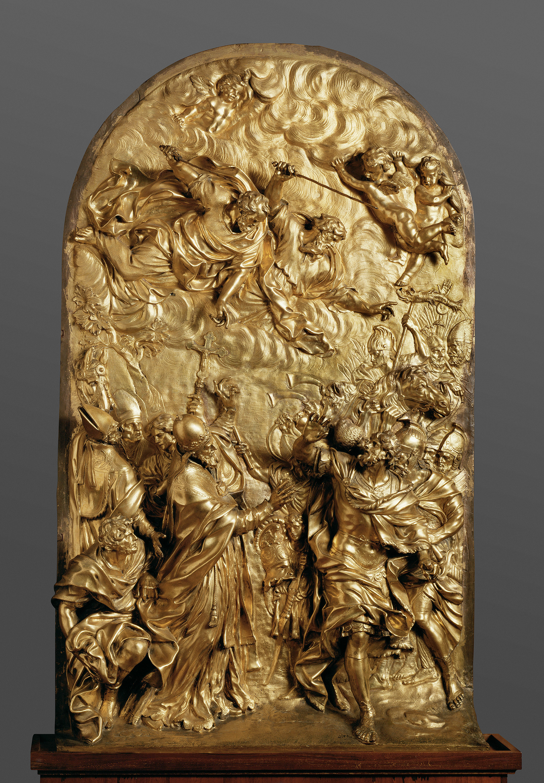Die Begegnung von Papst Leo des Großen mit dem Hunnenkönig Attila von Ercole Ferrata