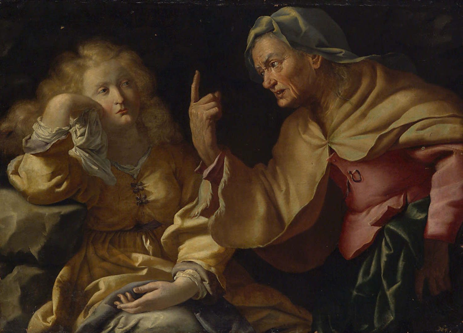 Martha tadelt ihre eitle Schwester Maria Magdalena von Francesco Incarnatini