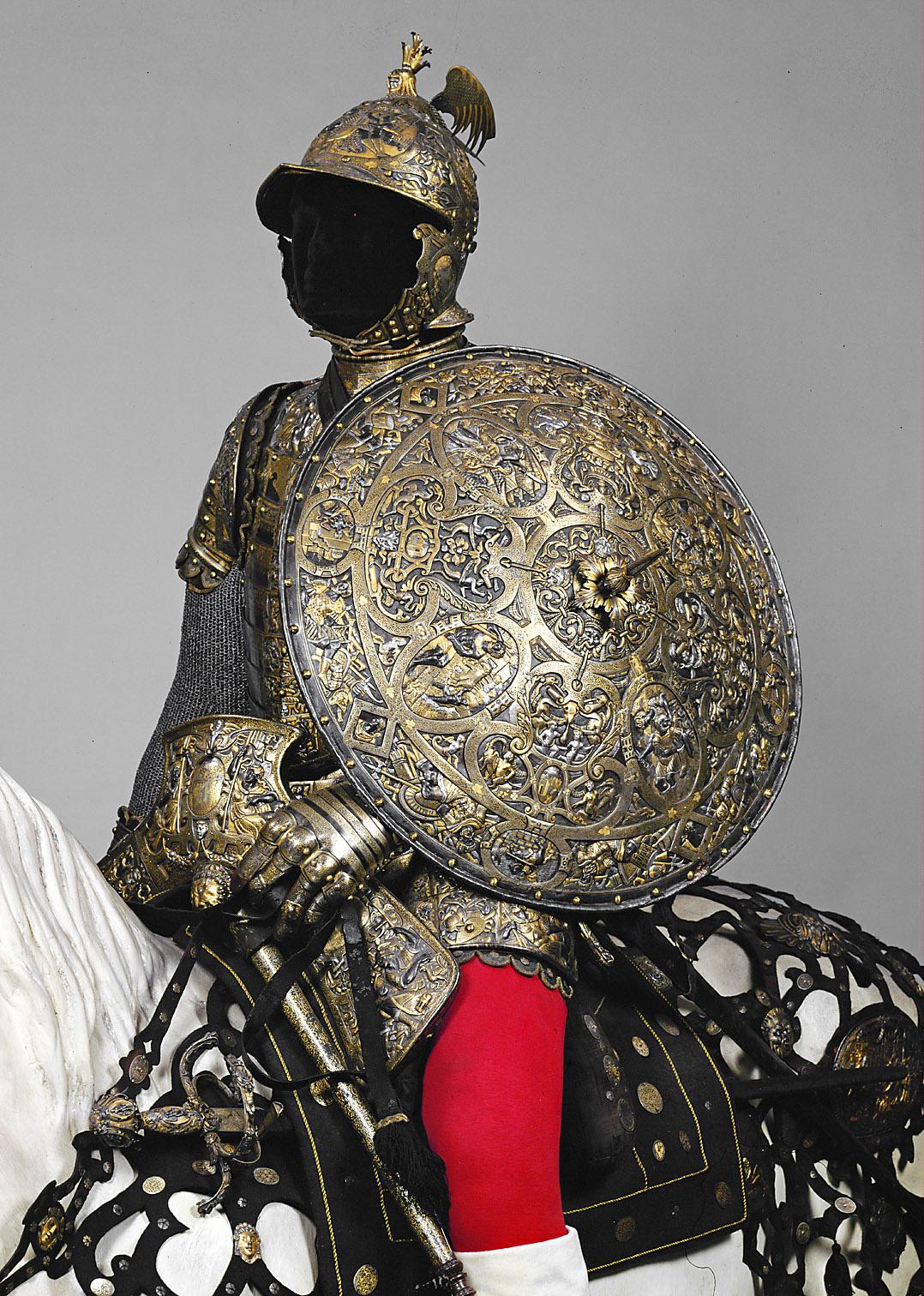 """Kunsthistorisches Museum: Rüstung: Harnisch der """"Mailänder"""