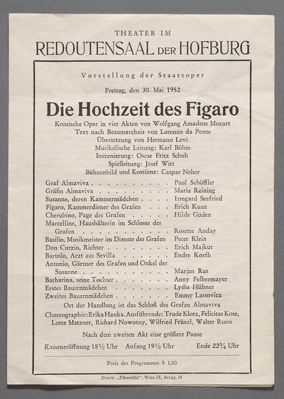 Theatermuseum: Online Sammlung